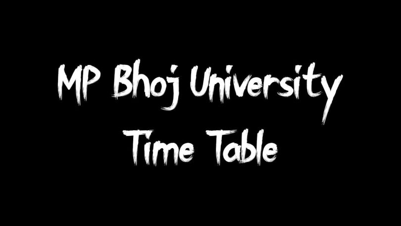MP Bhoj University Time Table